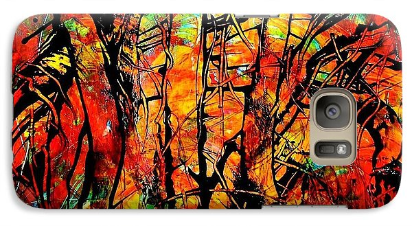 Galaxy Case featuring the painting Forest by Carolyn Repka