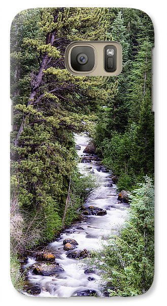 Galaxy Case featuring the photograph Forest Cascade by The Forests Edge Photography - Diane Sandoval