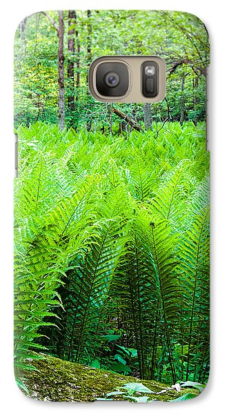 Galaxy Case featuring the photograph Forest Ferns   by Lars Lentz
