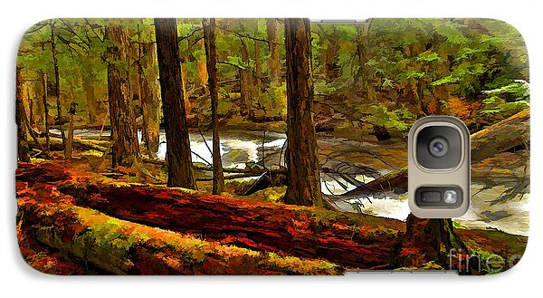 Galaxy Case featuring the digital art Forest Floor by Sam Rosen