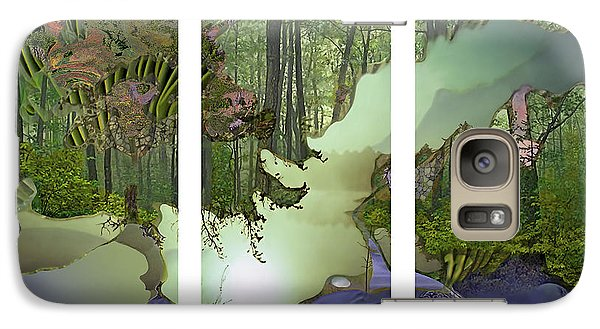 Galaxy Case featuring the digital art Forest Fog by Ursula Freer