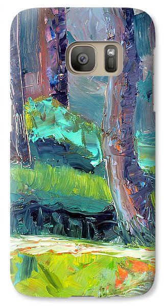 Galaxy Case featuring the painting Forest In Motion by Julie Maas