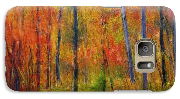 Galaxy Case featuring the painting Forest In The Fall by Bruce Nutting