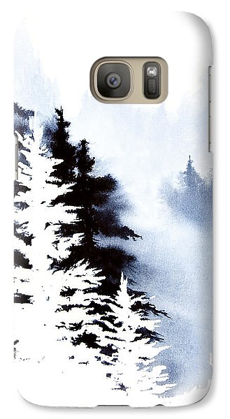 Galaxy Case featuring the painting Forest Indigo by Teresa Ascone