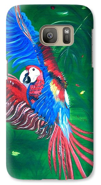 Galaxy Case featuring the painting Forest Landing by Phyllis Kaltenbach