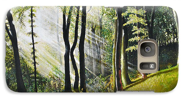 Galaxy Case featuring the painting Forest Oil Painting by Maja Sokolowska