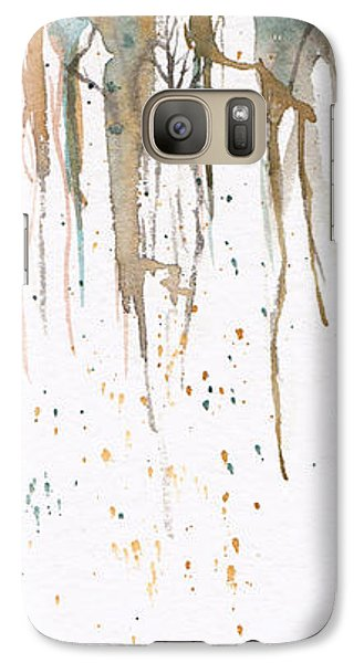 Galaxy Case featuring the painting Forest On A Cliff by Rebecca Davis