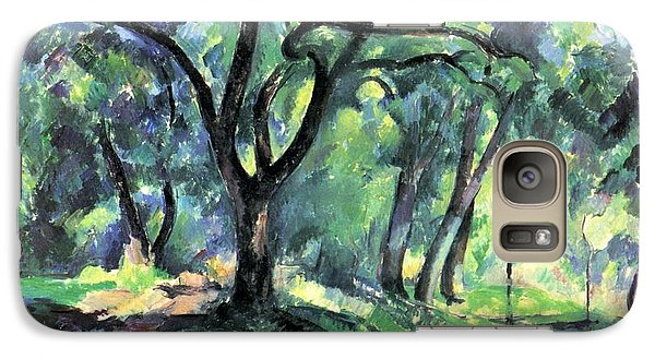 Galaxy Case featuring the painting Forest by Paul Cezanne