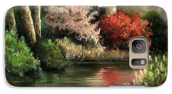 Galaxy Case featuring the painting Forest Pond by Mikhail Savchenko