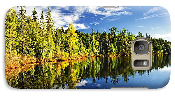 Landscape Galaxy S7 Case - Forest Reflecting In Lake by Elena Elisseeva