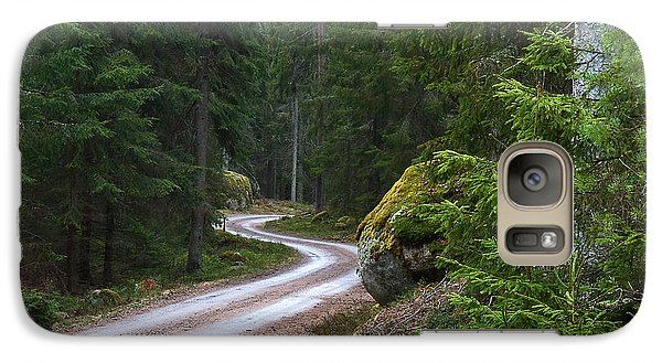 Galaxy Case featuring the photograph Forest Road by Kennerth and Birgitta Kullman