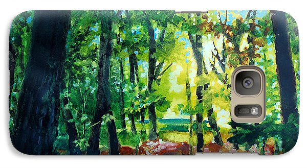Galaxy Case featuring the painting Forest Scene 1 by Kathy Braud