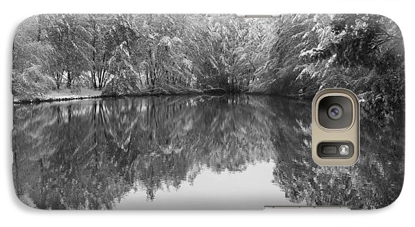 Galaxy Case featuring the photograph Forest Snow by Miguel Winterpacht