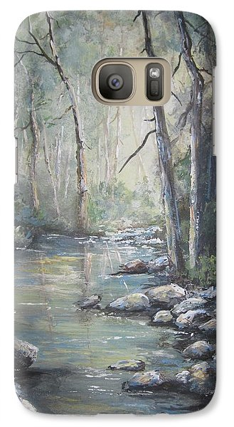 Galaxy Case featuring the painting Forest Stream by Megan Walsh