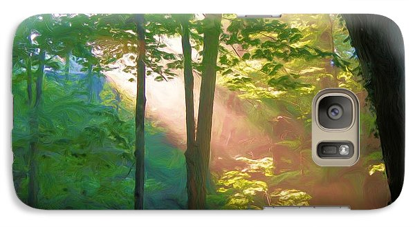 Galaxy Case featuring the photograph Forest Sunbeam by Dennis Lundell