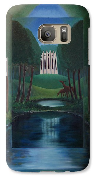 Galaxy Case featuring the painting Forest Temple by Tone Aanderaa