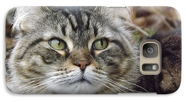 Galaxy Case featuring the photograph Forest The Cat by Gerald Strine