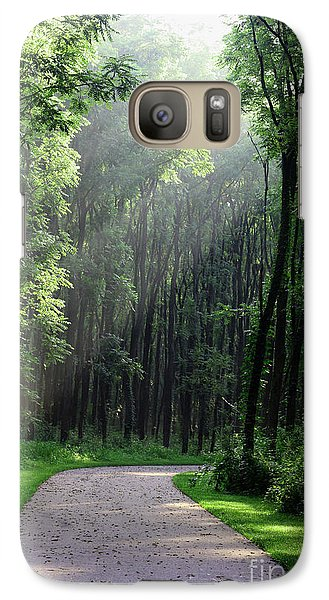 Galaxy Case featuring the photograph Forest Walk by Anita Oakley