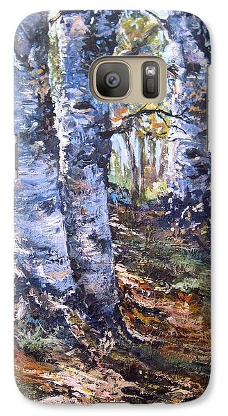 Galaxy Case featuring the painting Forest Walk by Megan Walsh