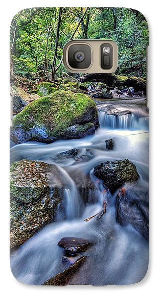 Galaxy Case featuring the photograph Forest Waterfall by John Swartz