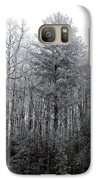 Galaxy Case featuring the photograph Forest With Freezing Fog by Daniel Reed