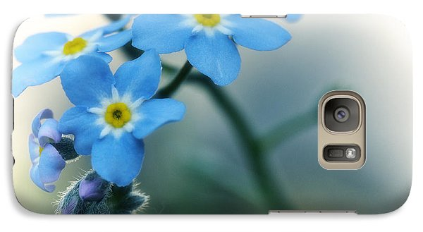 Galaxy Case featuring the photograph Forget Me Not by Simona Ghidini