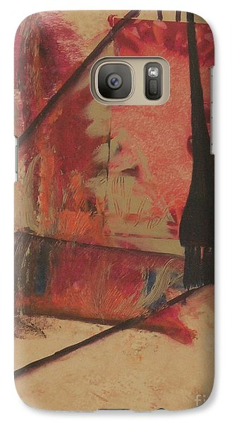 Galaxy Case featuring the painting Forgive My Tears by Mini Arora