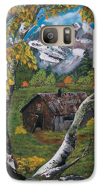 Galaxy Case featuring the painting Forgotten Cabin  by Sharon Duguay