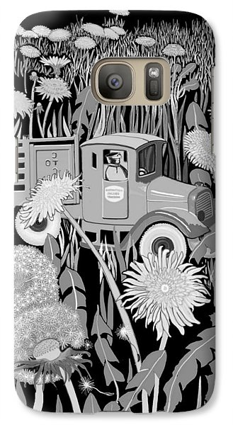 Galaxy Case featuring the drawing Forgotten by Carol Jacobs
