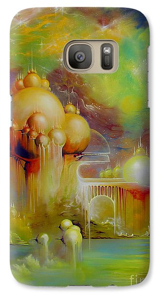 Galaxy Case featuring the painting Forgotten City by Alexa Szlavics
