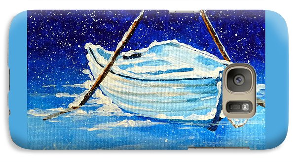 Galaxy Case featuring the painting Forgotten Rowboat by Jackie Carpenter
