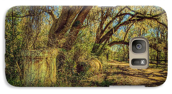 Galaxy Case featuring the photograph Forgotten Under The Oaks by Lewis Mann
