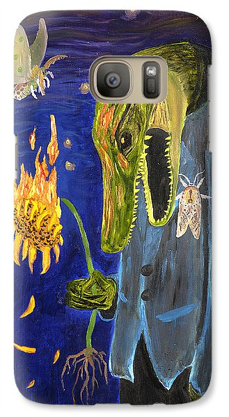 Galaxy Case featuring the painting Forlorn Disideratum by Christophe Ennis