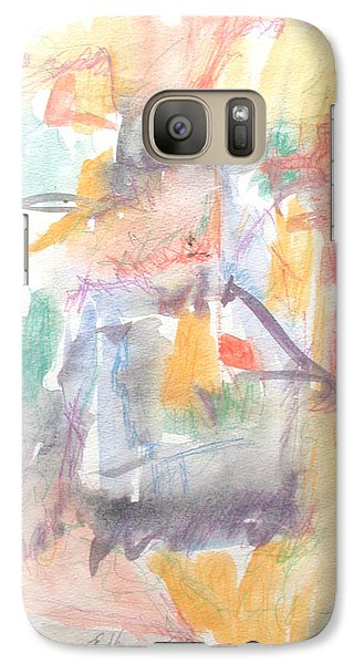Galaxy Case featuring the painting Formal Signature by Esther Newman-Cohen