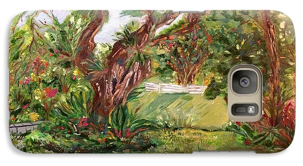 Galaxy Case featuring the painting Fort Canning Wonderland by Belinda Low