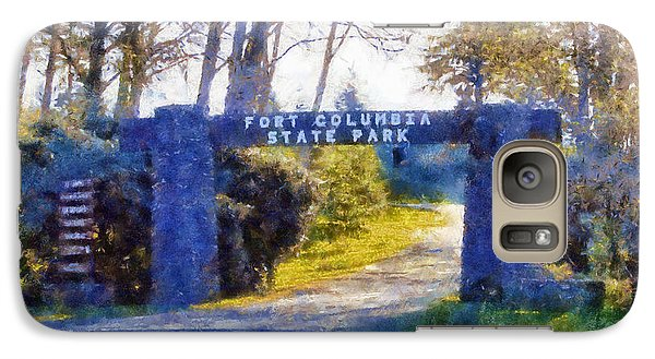 Galaxy Case featuring the digital art Fort Columbia Entrance by Kaylee Mason