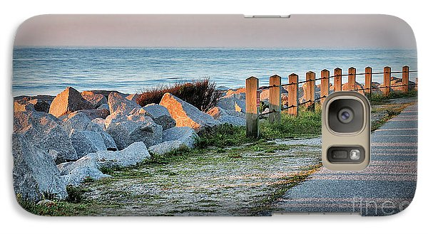 Galaxy Case featuring the photograph Fort Fisher Rocks At  Sunrise by Phil Mancuso