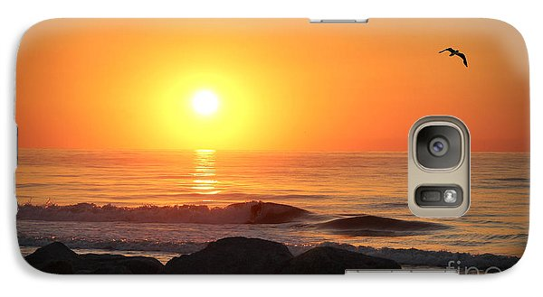 Galaxy Case featuring the photograph Fort Fisher Sunrise Redux by Phil Mancuso