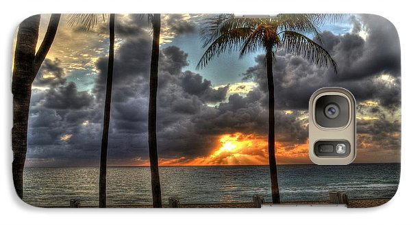 Galaxy Case featuring the photograph Fort Lauderdale Beach Florida - Sunrise by Timothy Lowry