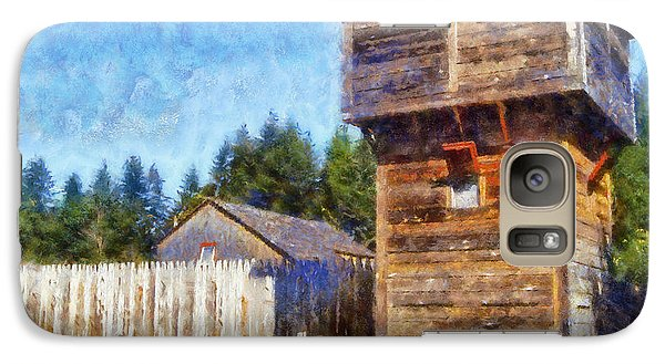 Galaxy Case featuring the digital art Fort Nisqually Tower by Kaylee Mason