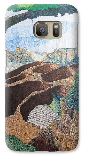 Galaxy Case featuring the painting Forte Rest by A  Robert Malcom