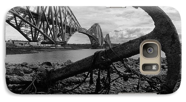 Galaxy Case featuring the photograph Forth Bridge Anchor by Jeremy Voisey