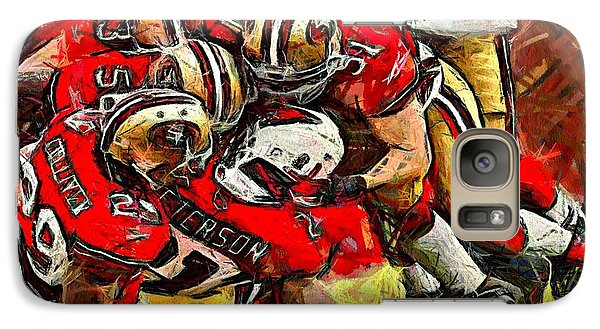 Galaxy Case featuring the digital art Forty Niners by Carrie OBrien Sibley
