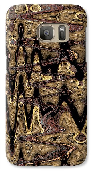 Galaxy Case featuring the photograph Fossil Wave by Patricia Januszkiewicz