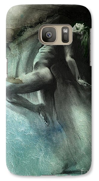 Galaxy Case featuring the drawing Fount I - Textured by Paul Davenport