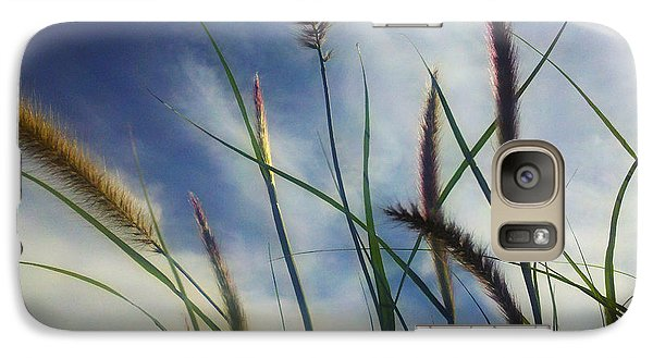 Galaxy Case featuring the photograph Fountain Grass by Richard Stephen