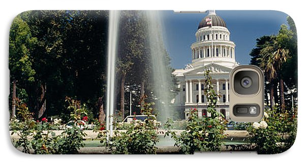 Fountain In A Garden In Front Galaxy Case by Panoramic Images