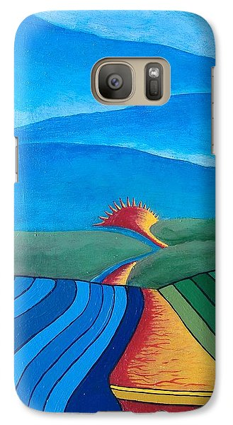 Galaxy Case featuring the painting Fountain Inn by Steve  Hester