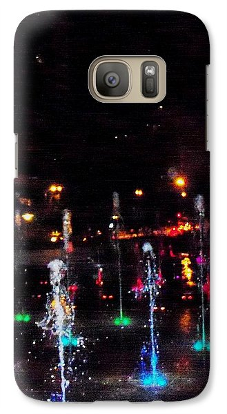 Galaxy Case featuring the photograph Fountains At City Garden by Kelly Awad