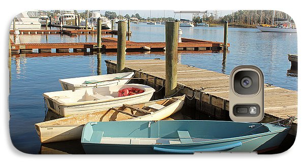 Galaxy Case featuring the photograph Four Boats  by Cynthia Guinn